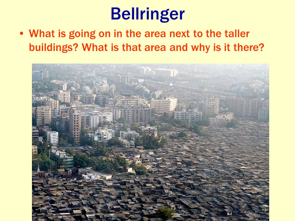 Bellringer What is going on in the area next to the taller buildings.