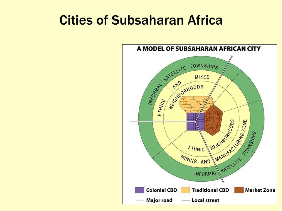 Cities of Subsaharan Africa