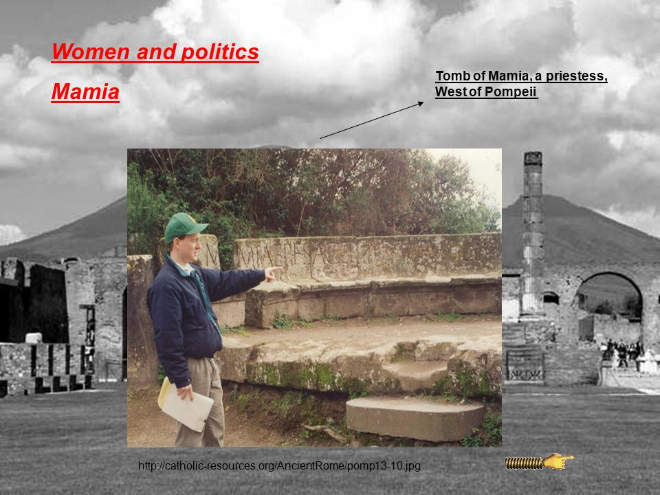 Women and politics Mamia Tomb of Mamia, a priestess, West of Pompeii