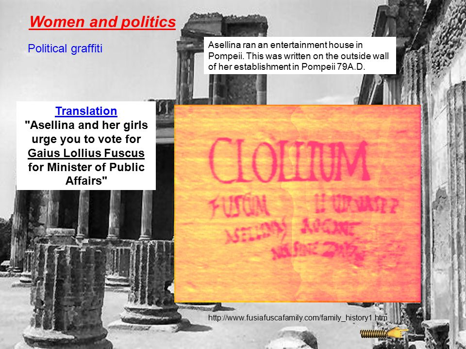 Women and politics Political graffiti Translation