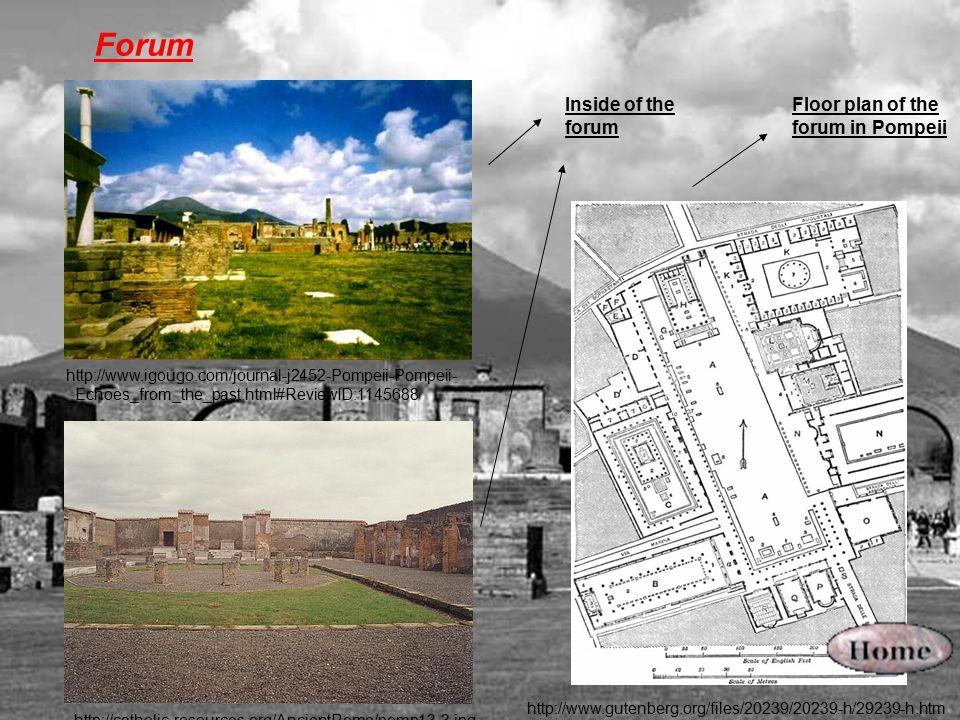 Forum Inside of the forum Floor plan of the forum in Pompeii