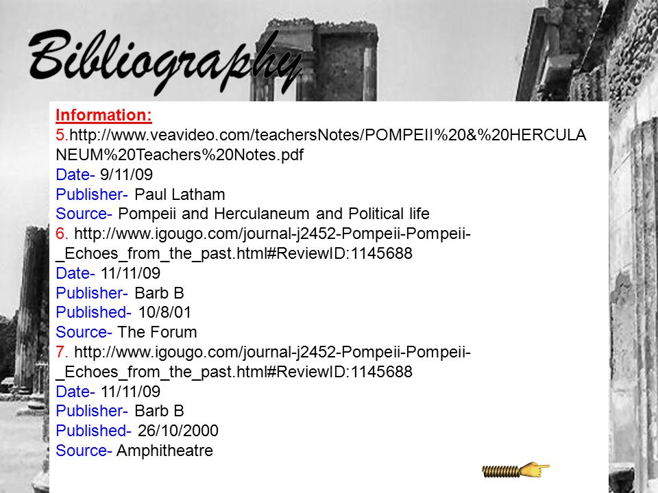 \ Bibliography Information: