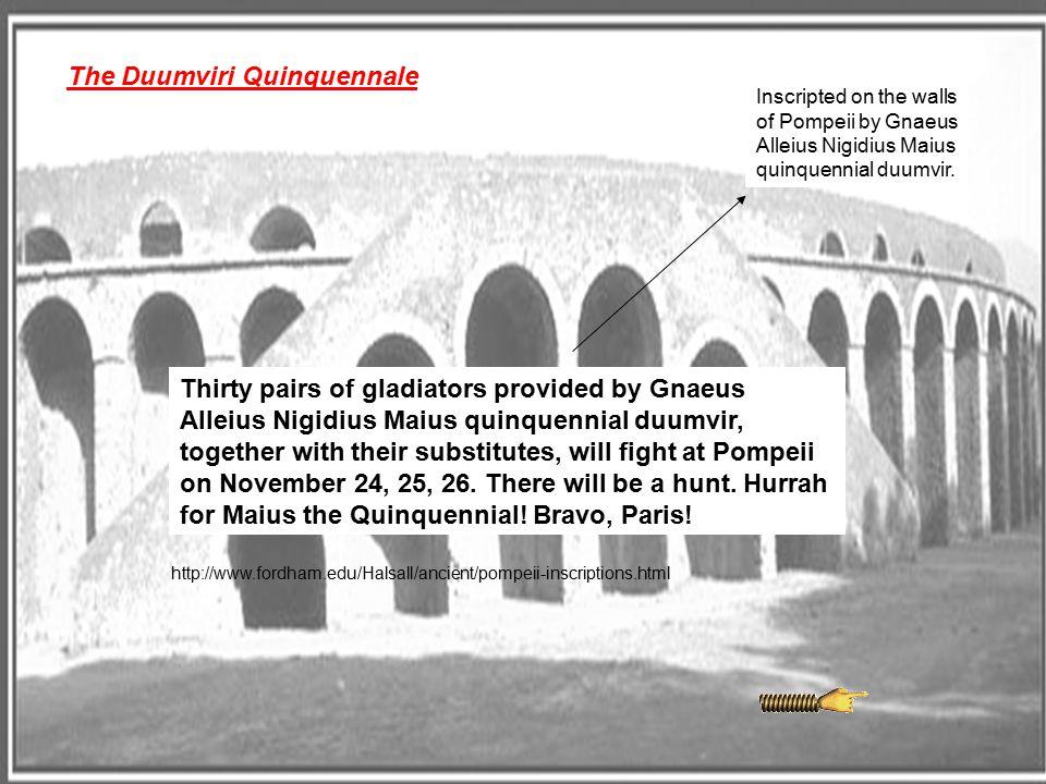 The Duumviri Quinquennale