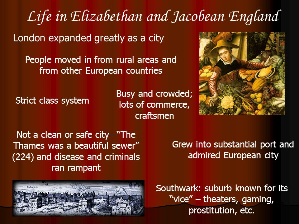 Life in Elizabethan and Jacobean England