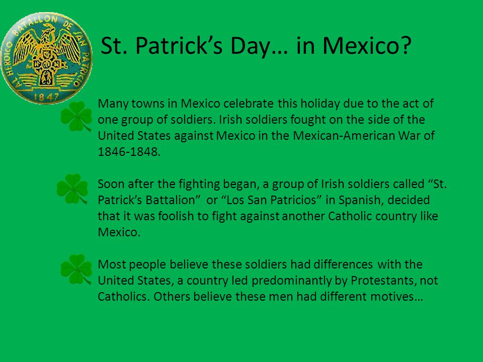 St. Patrick's Day… in Mexico