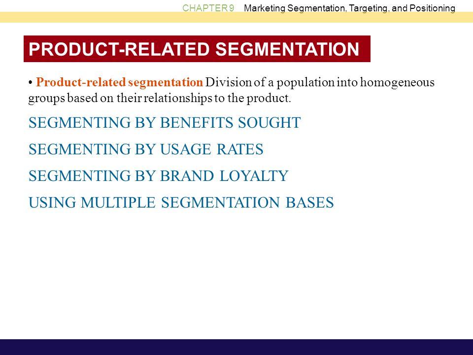 PRODUCT-RELATED SEGMENTATION