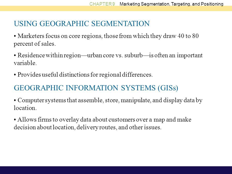 USING GEOGRAPHIC SEGMENTATION