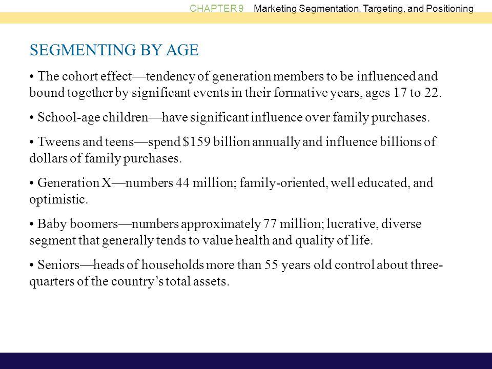 SEGMENTING BY AGE