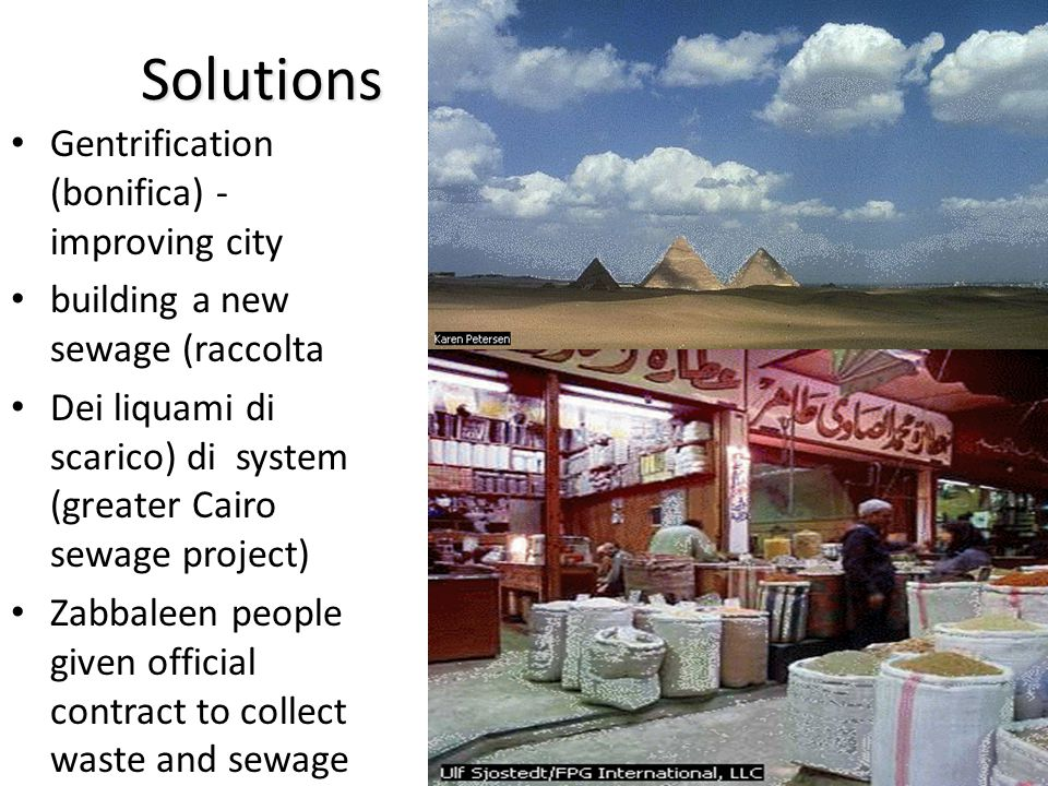 Solutions Gentrification (bonifica) - improving city