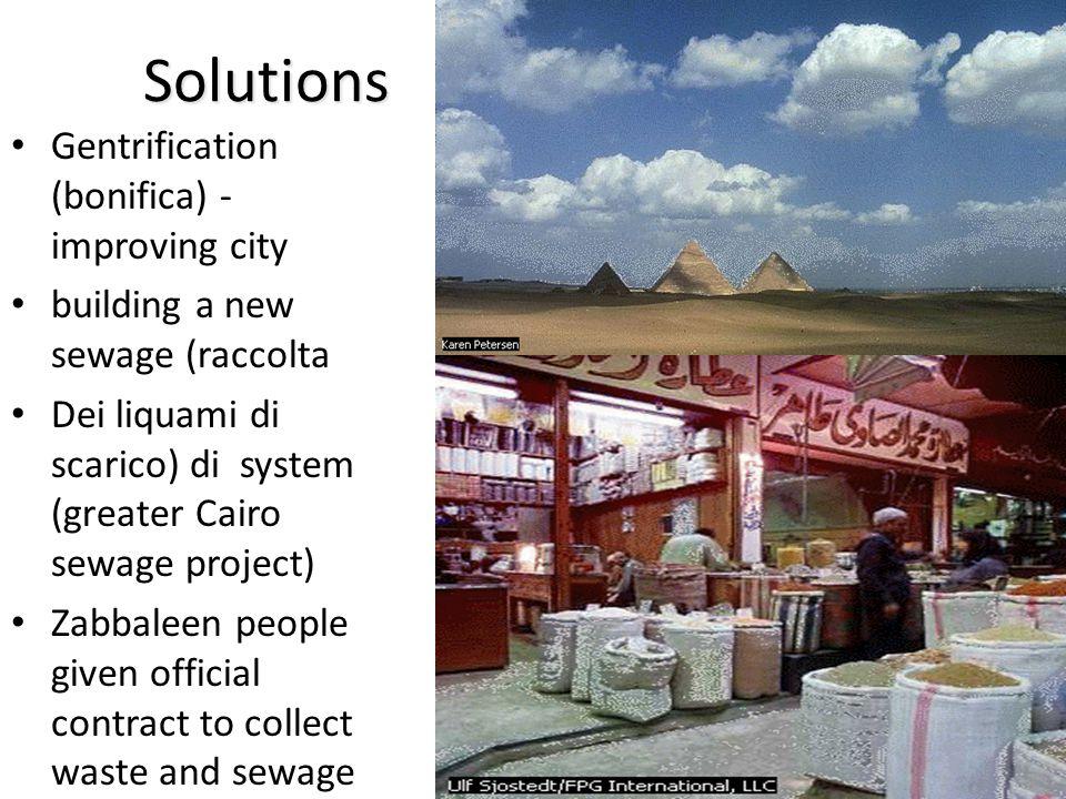 Solutions Gentrification (bonifica) - improving city