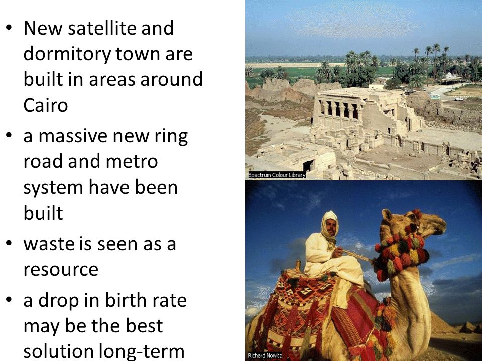 New satellite and dormitory town are built in areas around Cairo