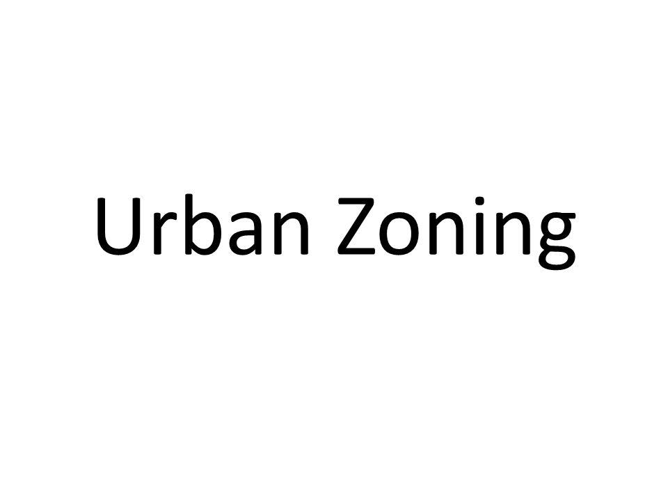 Urban Zoning