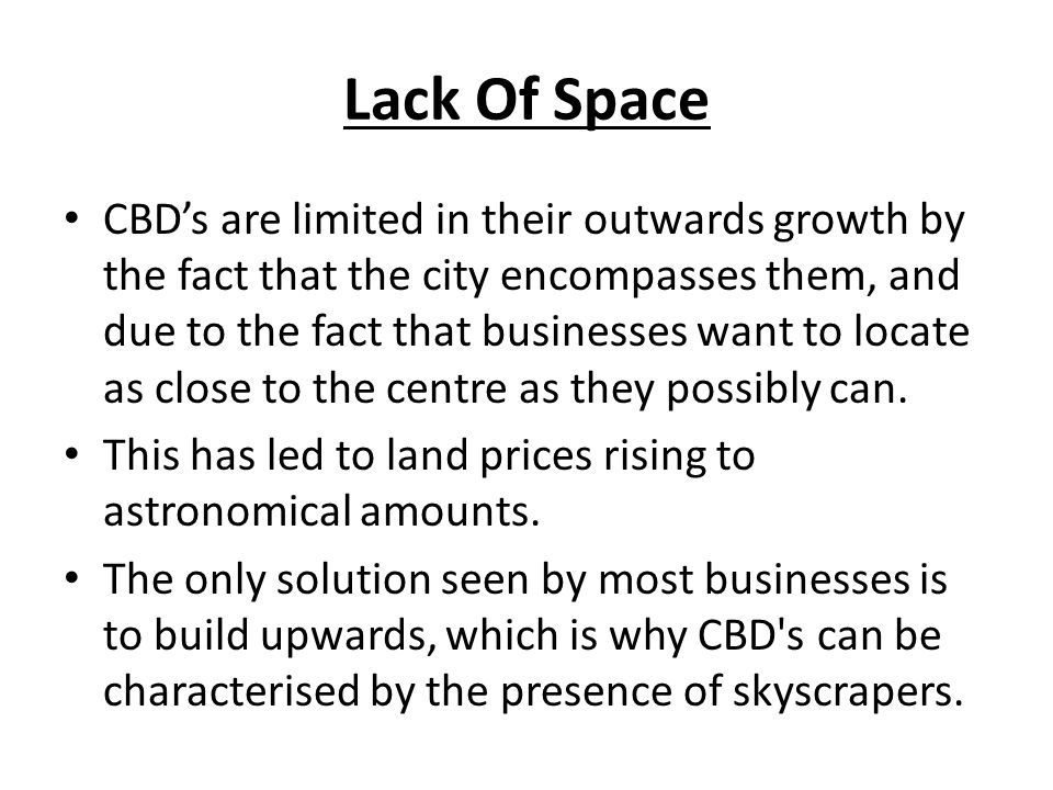 Lack Of Space