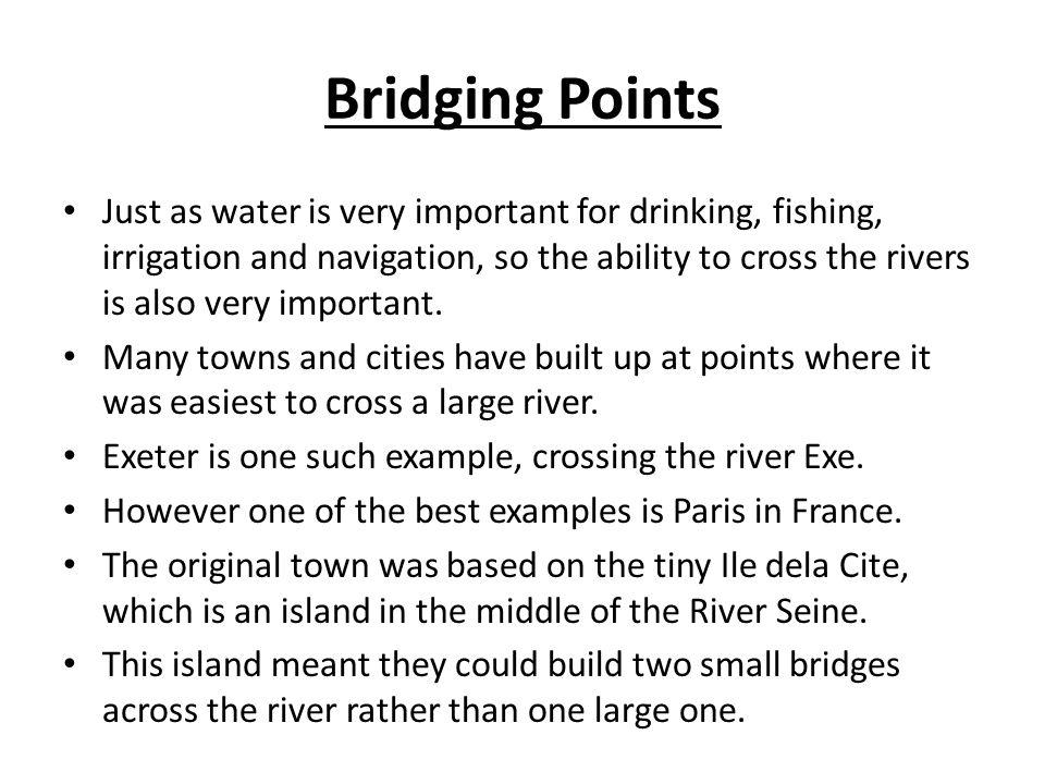 Bridging Points