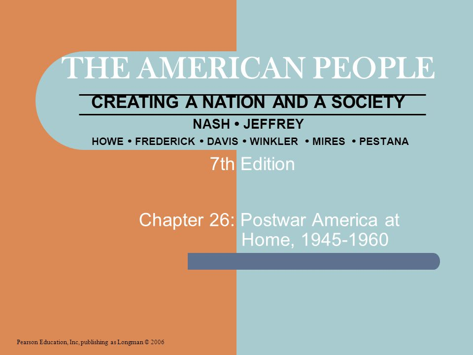 Chapter 26: Postwar America at