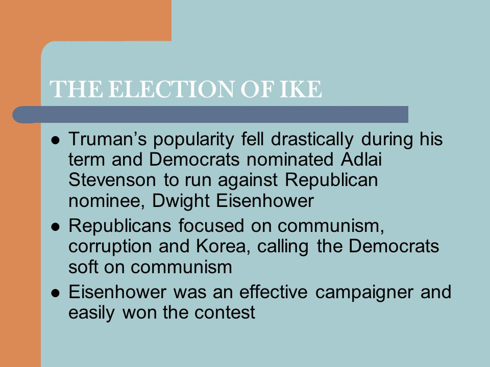 THE ELECTION OF IKE