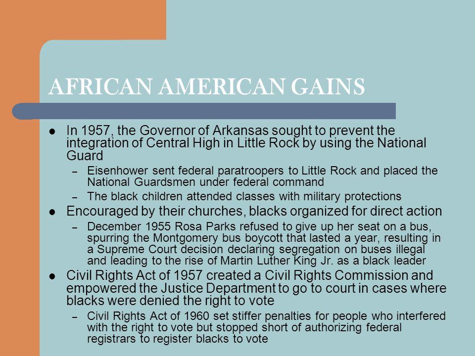 AFRICAN AMERICAN GAINS