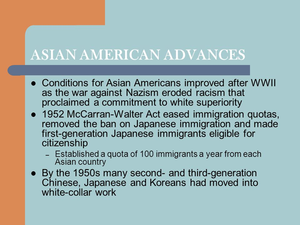 ASIAN AMERICAN ADVANCES
