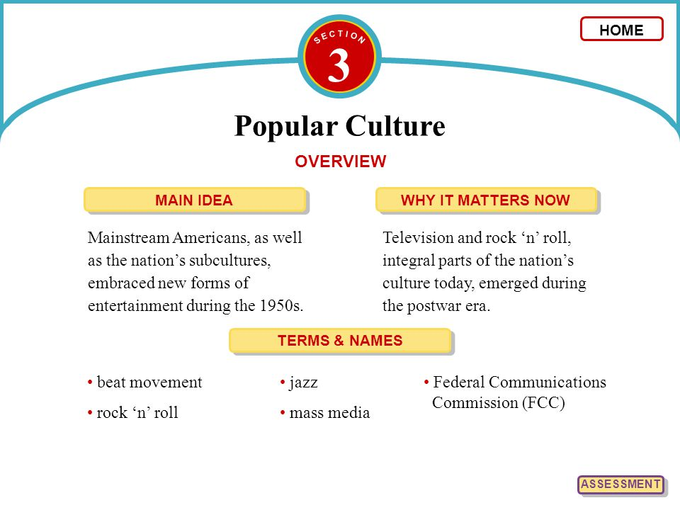 3 Popular Culture OVERVIEW