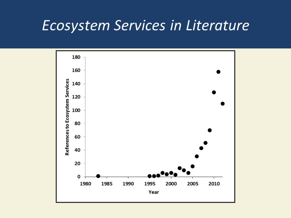 Ecosystem Services in Literature