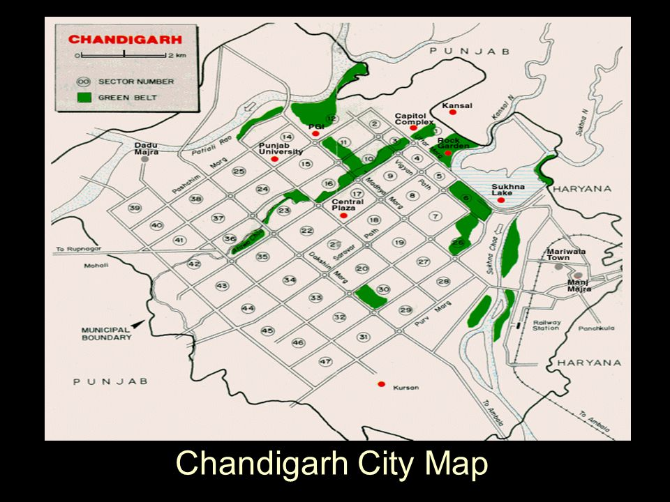 Chandigarh City Map