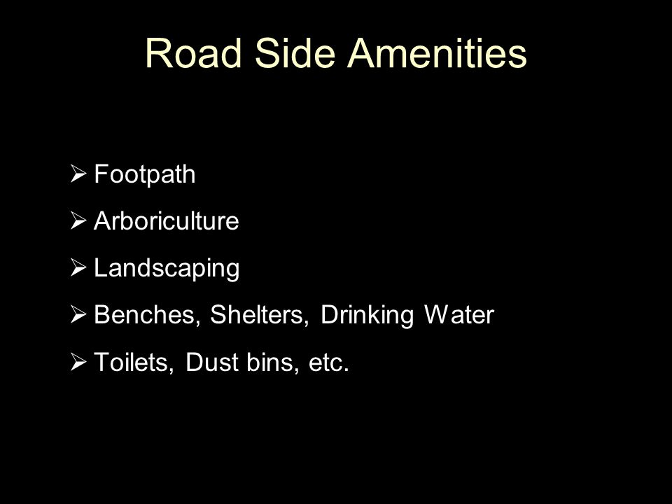 Road Side Amenities Footpath Arboriculture Landscaping
