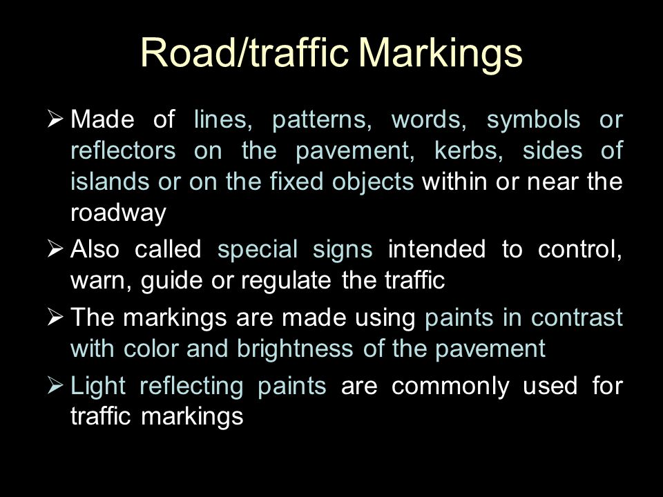 Road/traffic Markings