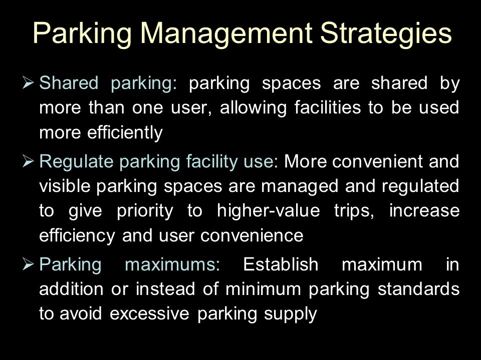 Parking Management Strategies