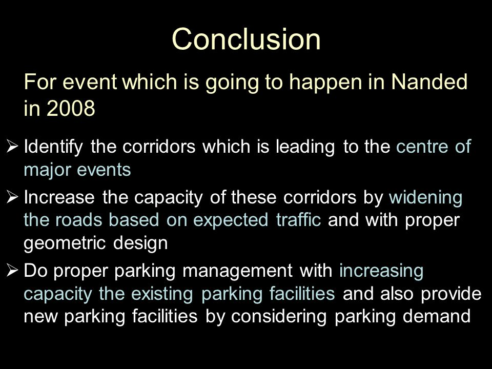 Conclusion For event which is going to happen in Nanded in 2008