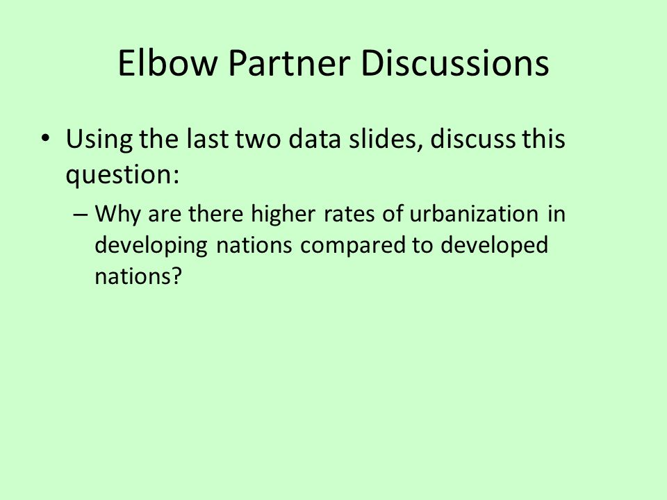 Elbow Partner Discussions