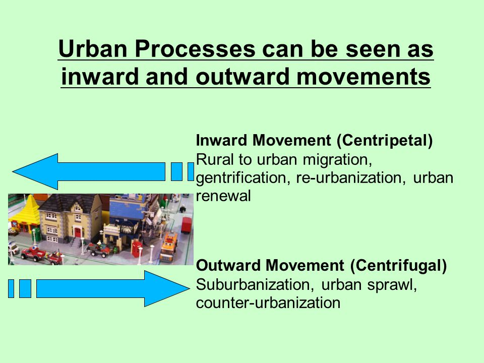 Urban Processes can be seen as inward and outward movements