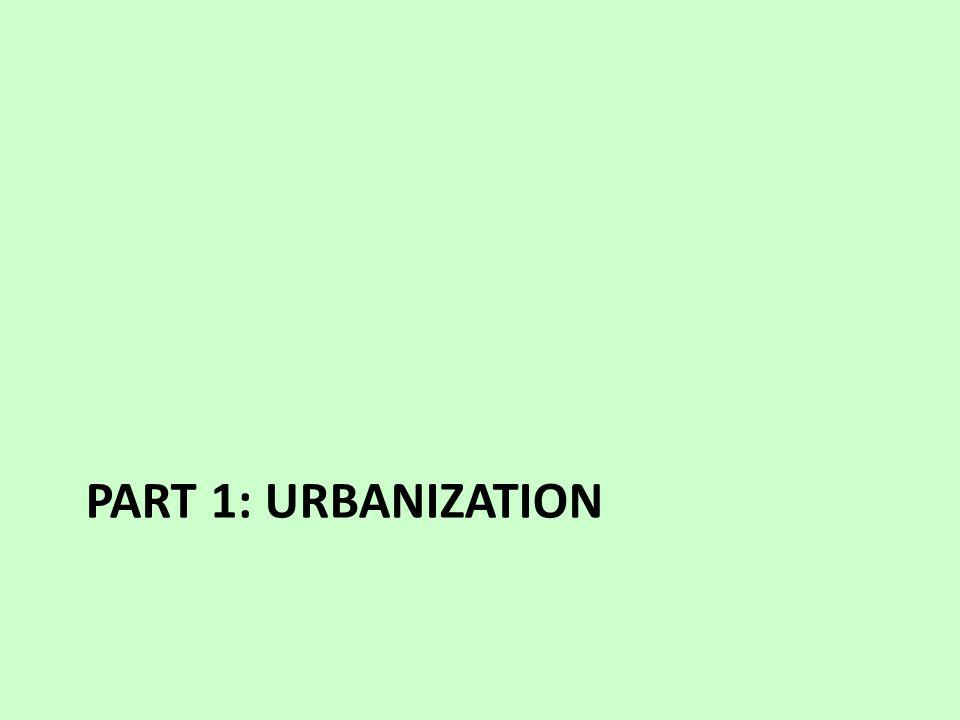 PART 1: URBANIZATION