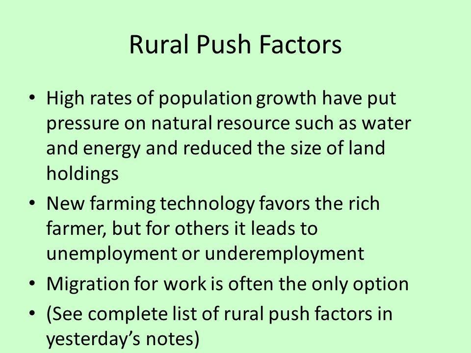 Rural Push Factors
