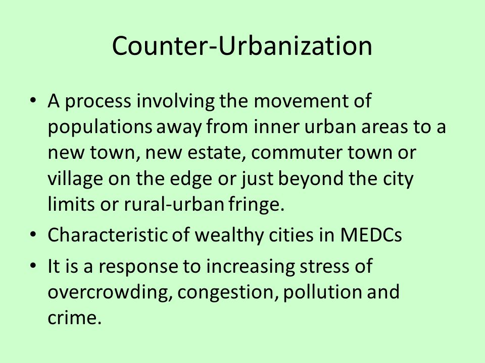 Counter-Urbanization