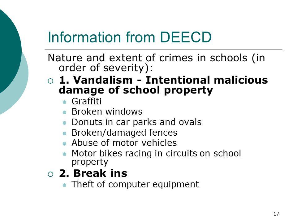 Information from DEECD