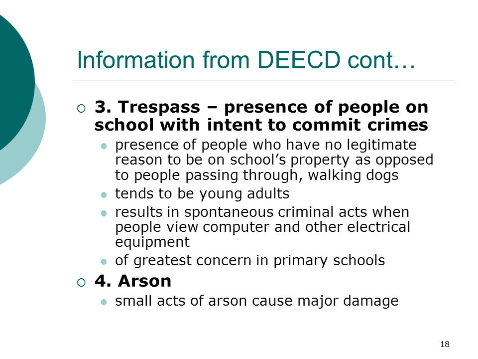 Information from DEECD cont…