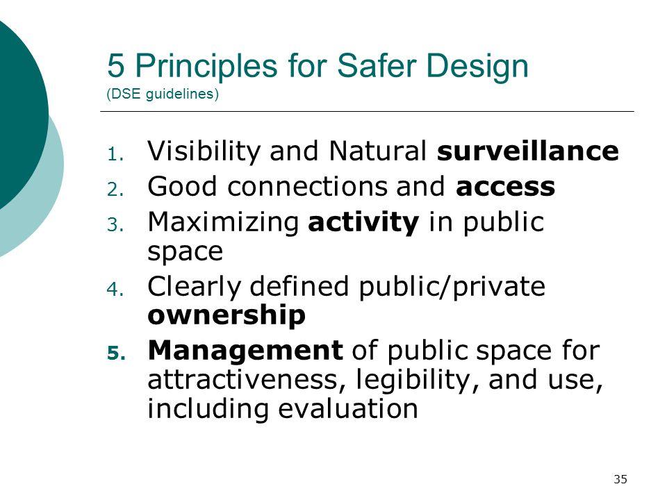 5 Principles for Safer Design (DSE guidelines)