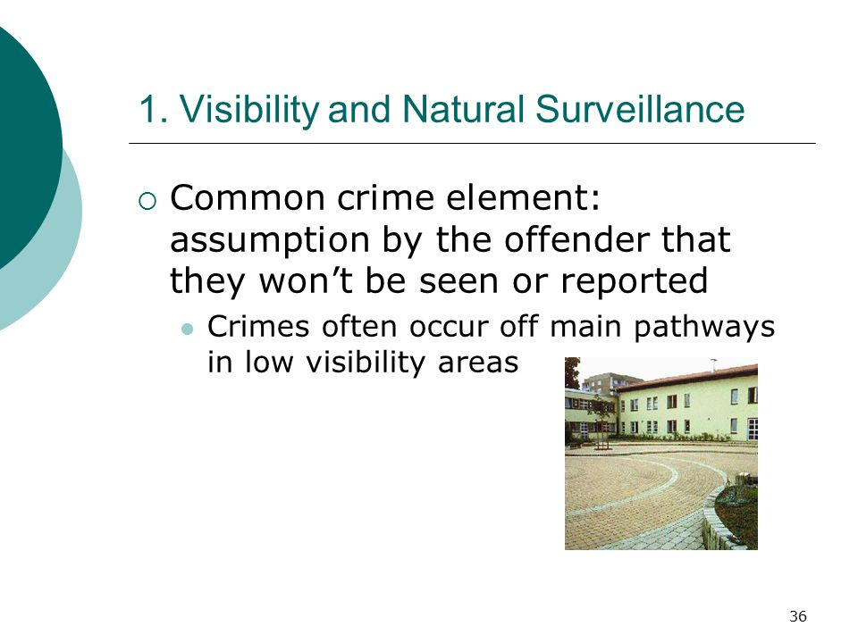 1. Visibility and Natural Surveillance