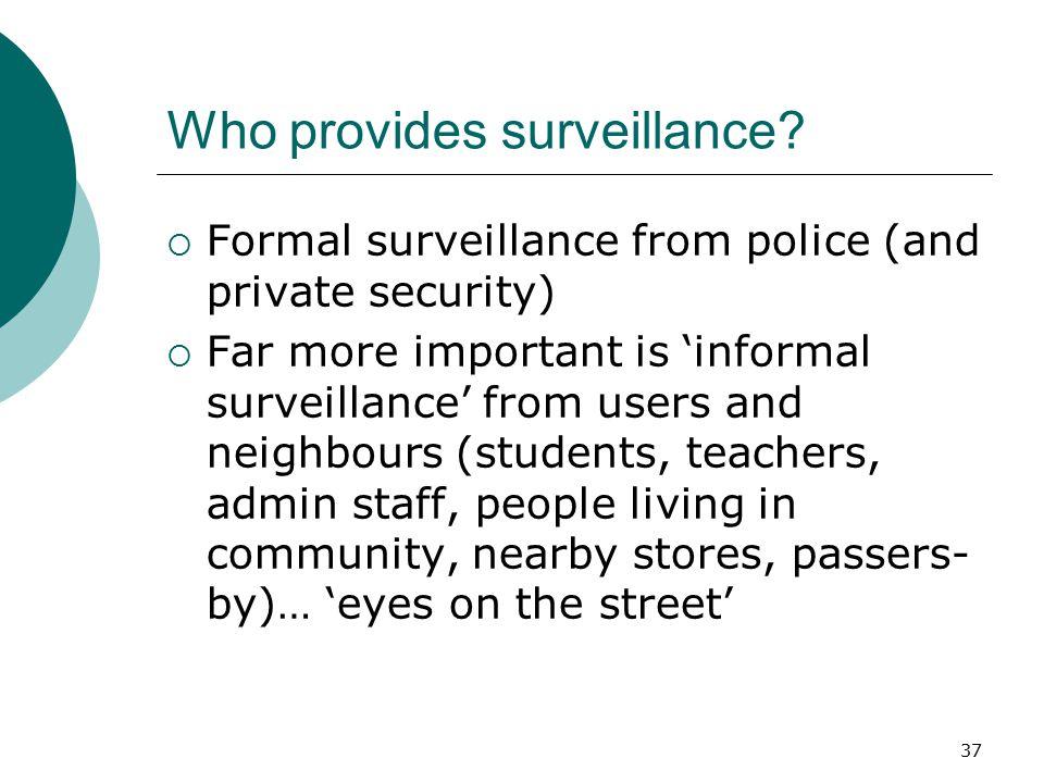 Who provides surveillance
