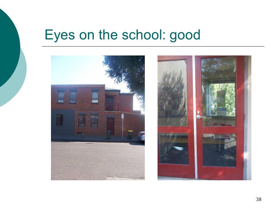 Eyes on the school: good