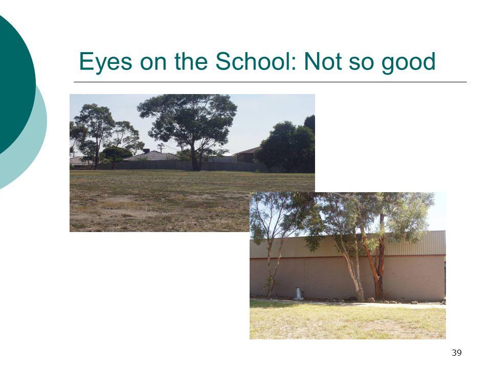 Eyes on the School: Not so good