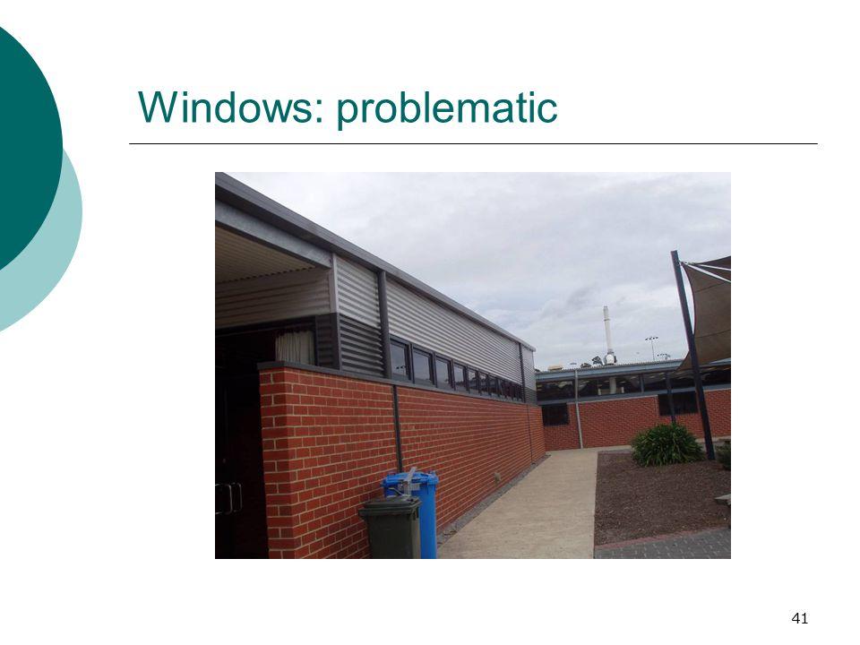 Windows: problematic