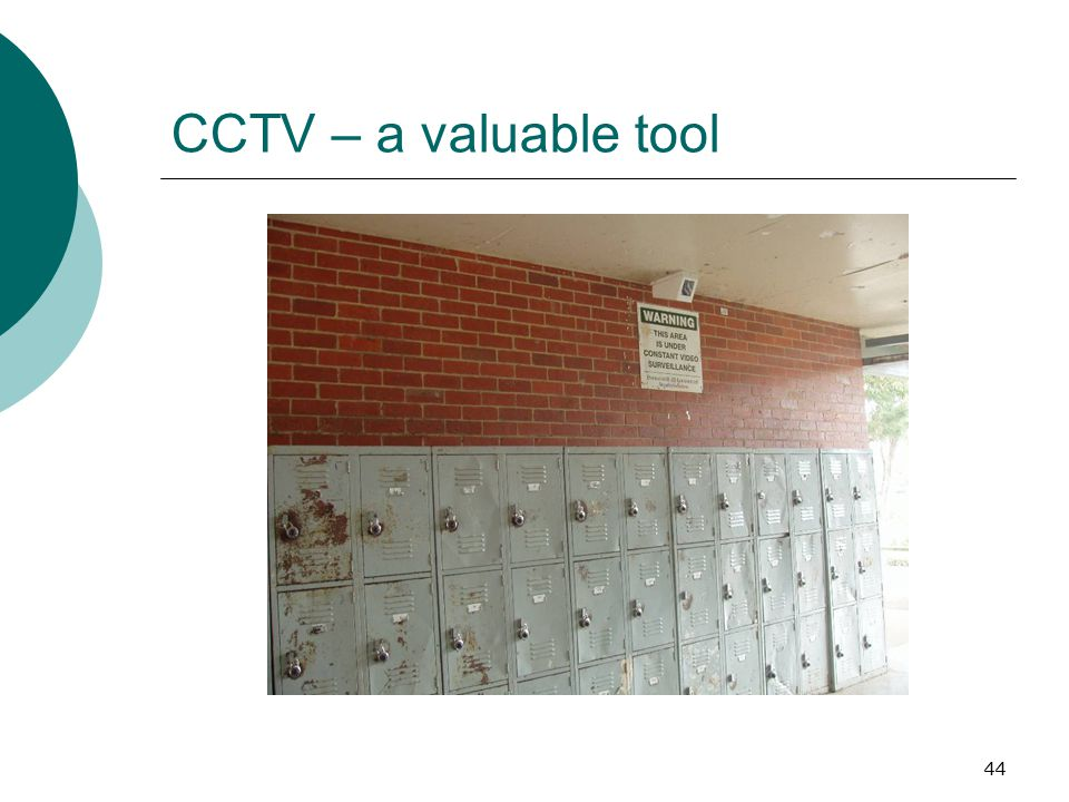 CCTV – a valuable tool