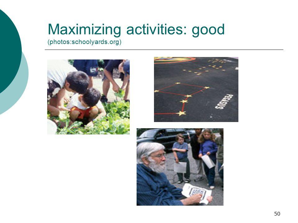 Maximizing activities: good (photos:schoolyards.org)