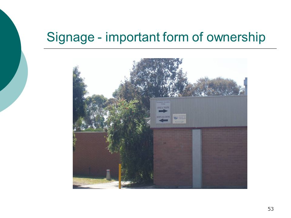 Signage - important form of ownership