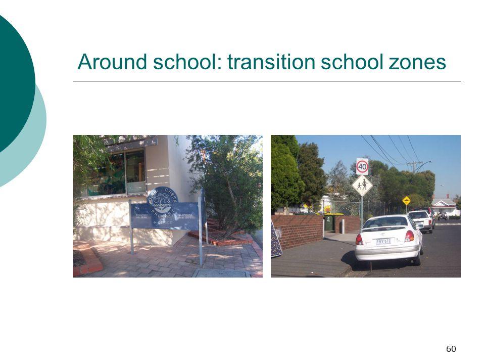 Around school: transition school zones