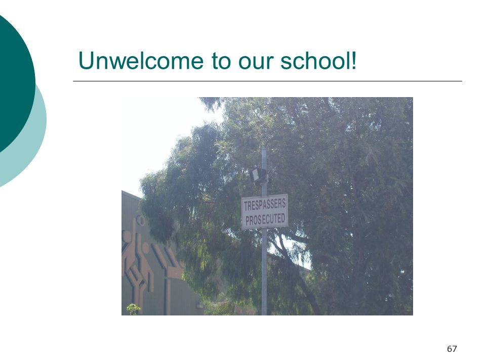 Unwelcome to our school!