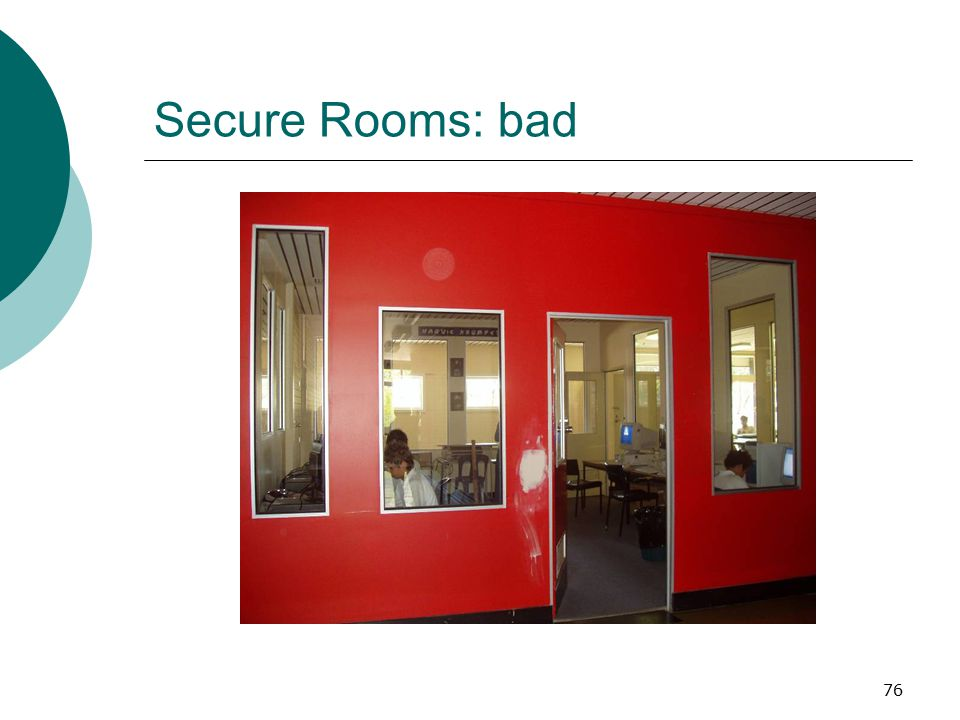 Secure Rooms: bad