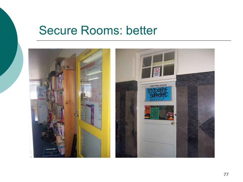 Secure Rooms: better