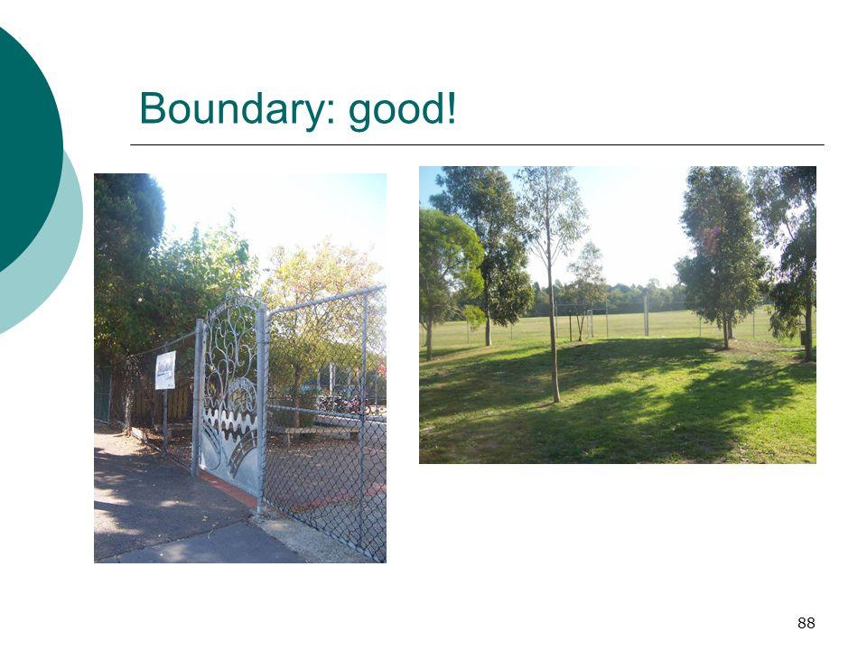 Boundary: good!